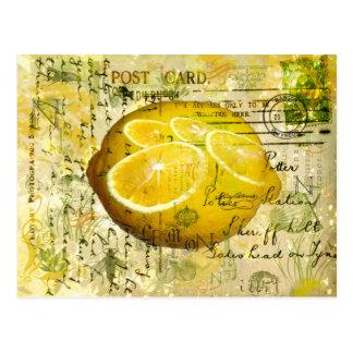 Postkarten-Zitronen Postkarte