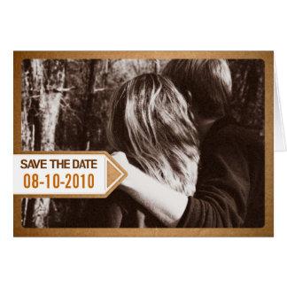 Postmitteilungs-Save the Date Einladung