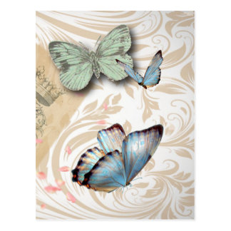 Poststempel scripts Turm Schmetterling Paris Postkarte