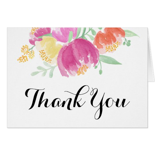 Posy-Garten | danken Ihnen Mitteilungskarte