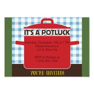 Potluck 8,9 X 12,7 Cm Einladungskarte