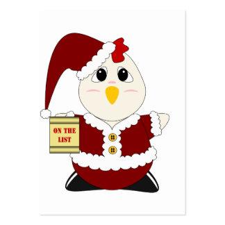 Poulet gentil à croquer Père Noël Modèles De Cartes De Visite