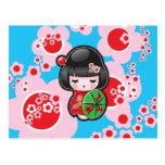 Poupée de Japonais de Kawaii Cartes Postales