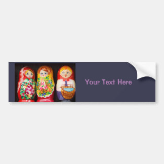 Poupées colorées de Matryoshka Autocollant De Voiture