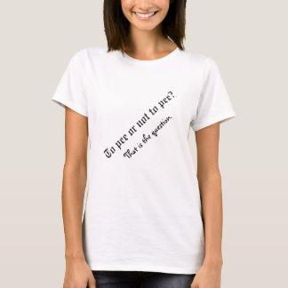 Pour faire pipi… Chemise de maternité T-shirt