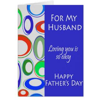 Pour mon mari la fête des pères cartes de vœux