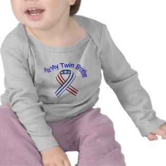 Pour mon patriotique militaire de frère jumeau t-shirt