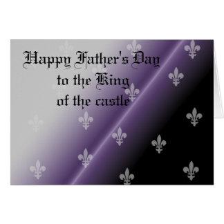 Pourcentage gothique de fête des pères heureuse carte de vœux