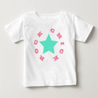 POUSSIN de ROCHE T-shirt rose et turquoise de |