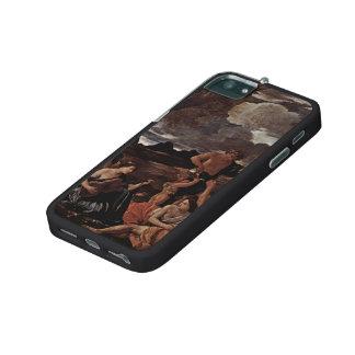 Poussin-Grande orgie de Nicolas, femme jouant le l Étui Pour iPhone 5/5S