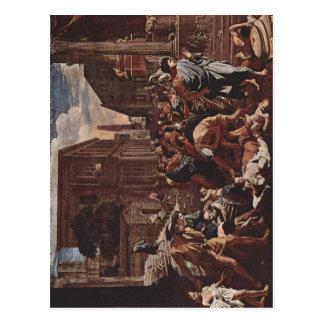 Poussin, Nicolas die Pest von Azoth La Peste d'Asd Postkarte