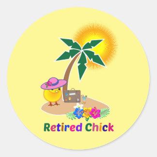 Poussin retiré des vacances sticker rond