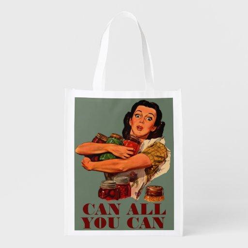 Pouvez tout vous pouvez sac réutilisable d'épcierie