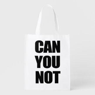 Pouvez vous pas sacs d'épicerie réutilisables