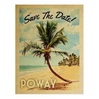 Poway Kalifornien Save the Date Vintag Postkarte
