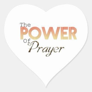 Power des Gebets Herz-Aufkleber
