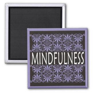 Power-Wort für Motivation - MINDFULNESS Quadratischer Magnet