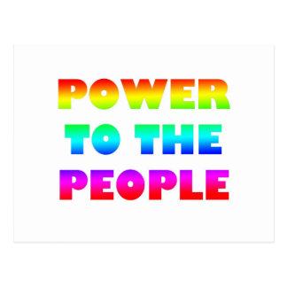 Power zum Leute-Retro Art-Protest besetzen Postkarte