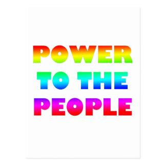 Power zum Leute-Retro Art-Protest besetzen Postkarten