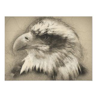 Prachtvoller Weißkopfseeadler Setch Karte