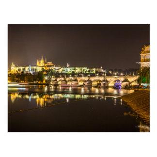 Prag - Schloss u. Charles-Brücke Postkarte