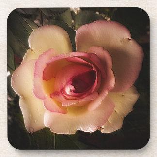 Prägeartige Sommer-Rose Untersetzer
