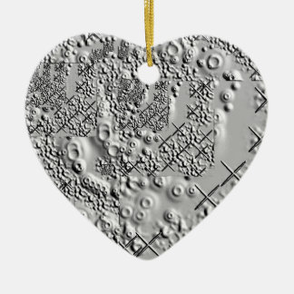 Prägeartige und geschmolzene Metallkreuze Keramik Herz-Ornament