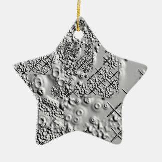 Prägeartige und geschmolzene Metallkreuze Keramik Ornament