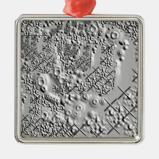Prägeartige und geschmolzene Metallkreuze Quadratisches Silberfarbenes Ornament