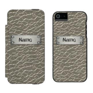 Prägeartiges Aluminium Incipio Watson™ iPhone 5 Geldbörsen Hülle