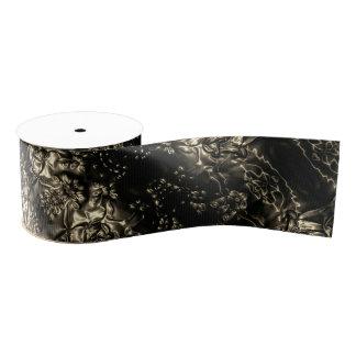 Prägenkunst metallisch ripsband