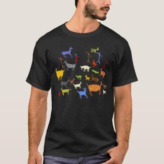 Prähistorische Tiere von Valcamonica T-Shirt