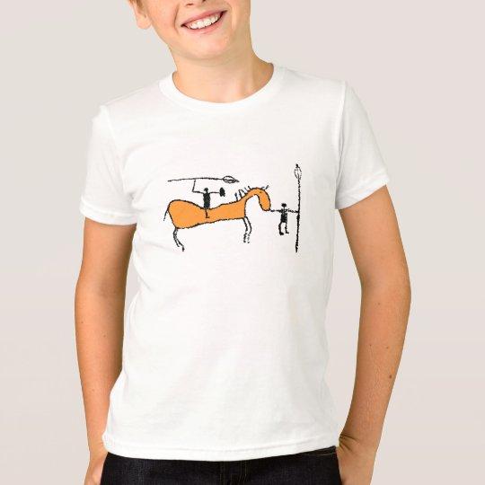 Prähistorischer Pferdereiter mit Spieß T-Shirt