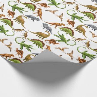 Prähistorisches Dinosaurier Paleo Packpapier