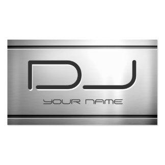 Prämie gebürstetes Edelstahl-Metall - Musik DJ Visitenkartenvorlage
