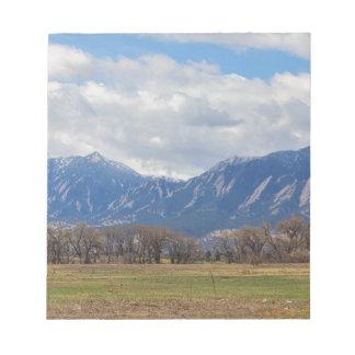 Präriehund-Ansicht Boulders Colorado Notizblock