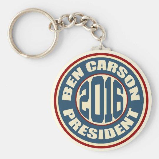 Präsident 2016 Ben-Carson Standard Runder Schlüsselanhänger