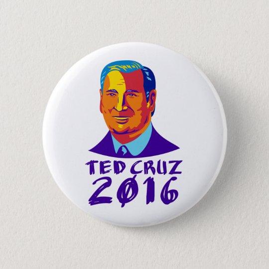 Präsident 2016 Ted-Cruz Retro Runder Button 5,1 Cm