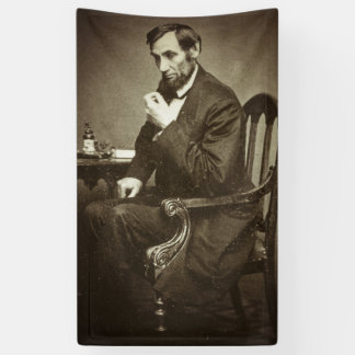 PRÄSIDENT ABRAHAM LINCOLN 1862 STEREOVIEW BANNER