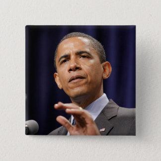 Präsident Barack Obama Quadratischer Button 5,1 Cm