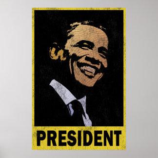 Präsident Barack Obama Vintag Poster