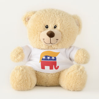 Präsident Donald Trump GOP-Elefant-Haar Teddybär