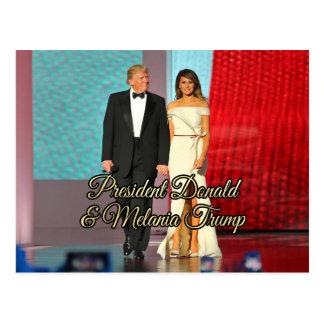 Präsident Donald Trump u. Melania-Foto Postkarte