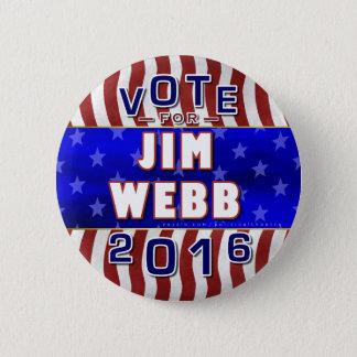 Präsident Jim-Webb Wahl 2016 Demokrat Runder Button 5,7 Cm