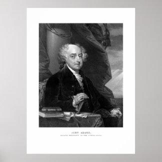 Präsident John Adams Poster