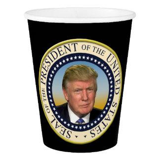 Präsident Trump Foto Presidential Seal Pappbecher