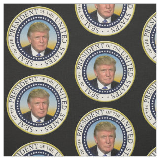 Präsident Trump Foto Presidential Seal Stoff