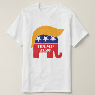 Präsident Trump GOP-Elefant-Haar-Logo 2020 T-Shirt