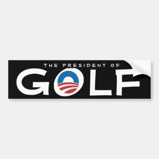 Präsident von Golfc$anti-obama-sarkastischem Autoaufkleber