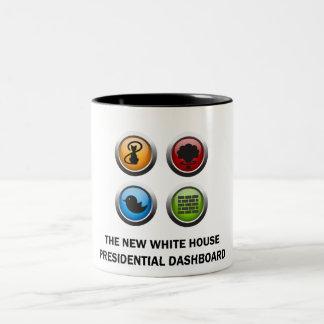 Präsidentenarmaturenbrett Zweifarbige Tasse